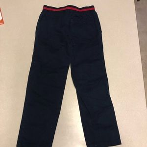 Cherokee size 6 Boy Navy & Red pants 100% cotton